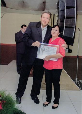 Edmilson Andrade (Pref.) e a Sra. Luzia de Moraes Teodoro